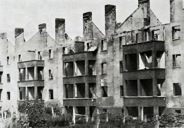 historische galerie ringstra e nach zerst rung 1945 forst lausitz. Black Bedroom Furniture Sets. Home Design Ideas
